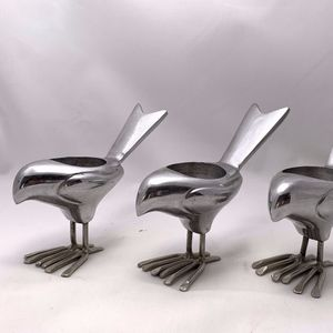 3 Metal CB2 Chick Tealight Candle Holders